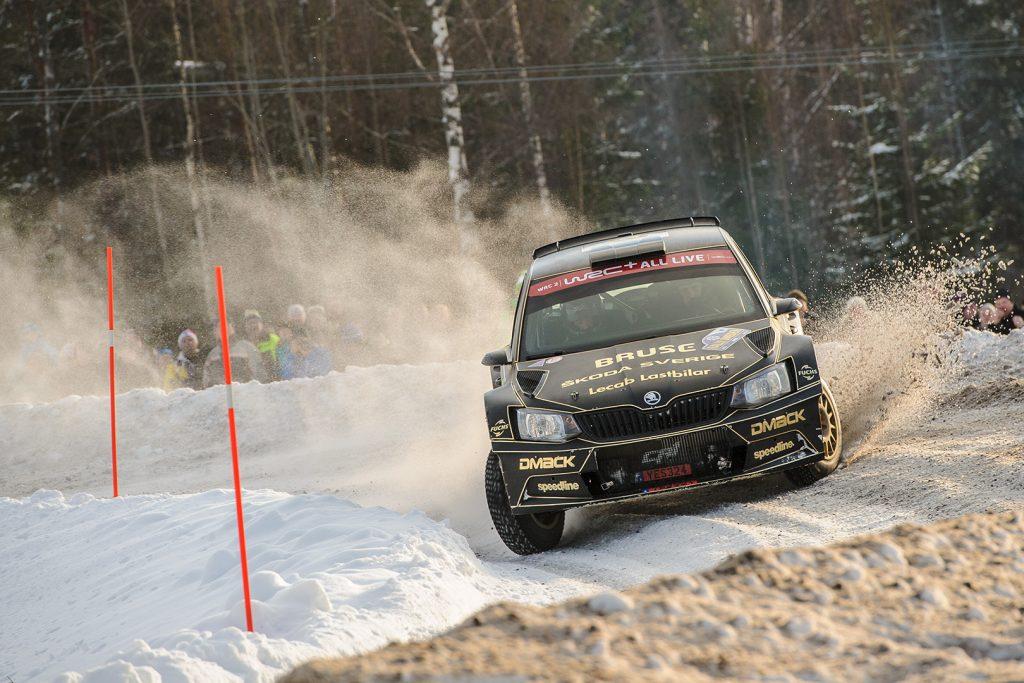 Fredrik Åhlin / Joakim Sjöberg, ŠKODA FABIA R5. Rally Sweden 2018