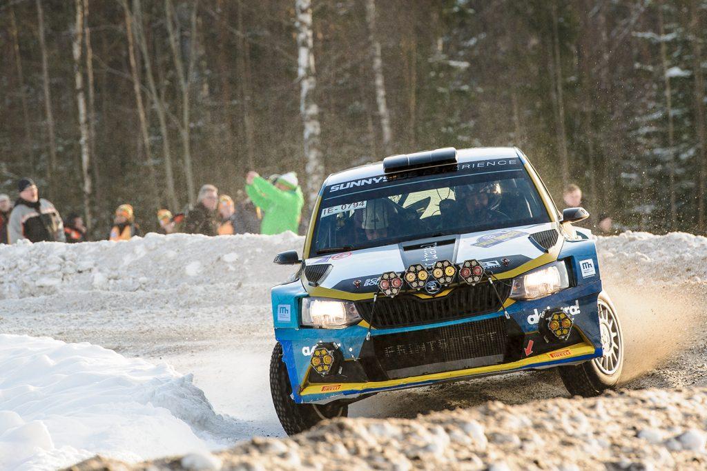 Lars Stugemo / Kalle Lexe, ŠKODA FABIA R5. Rally Sweden 2018