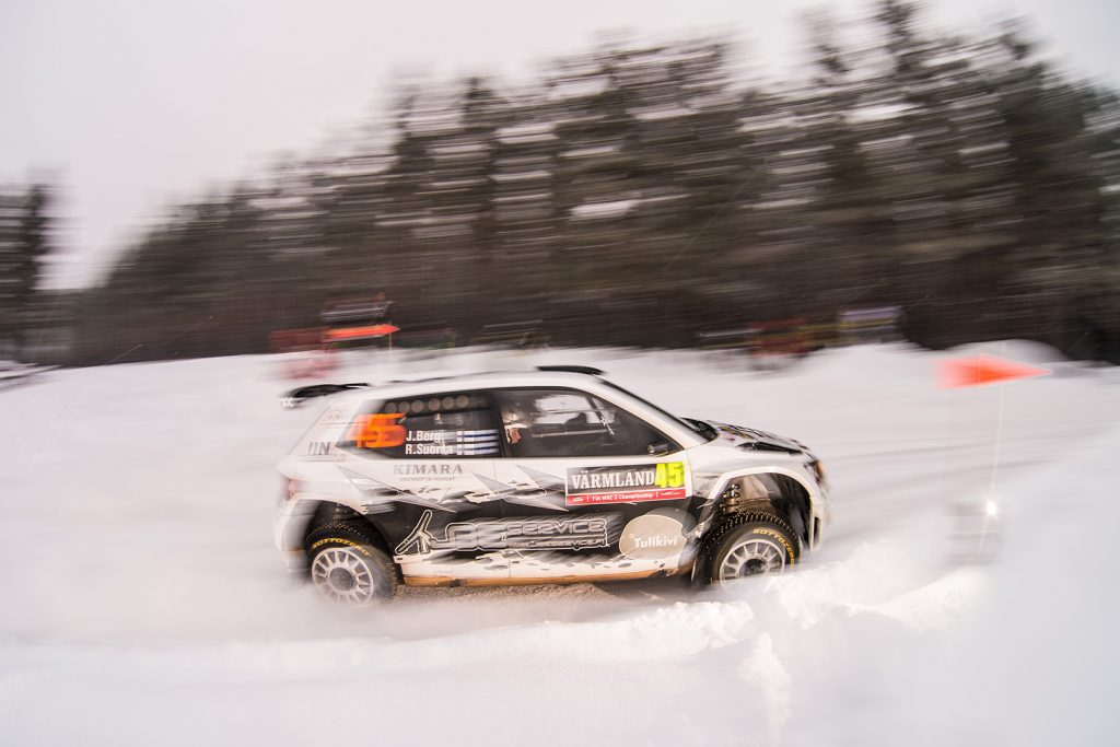 Jarmo Berg / Rami Suorsa, ŠKODA FABIA R5, Toksport WRT. Rally Sweden 2018
