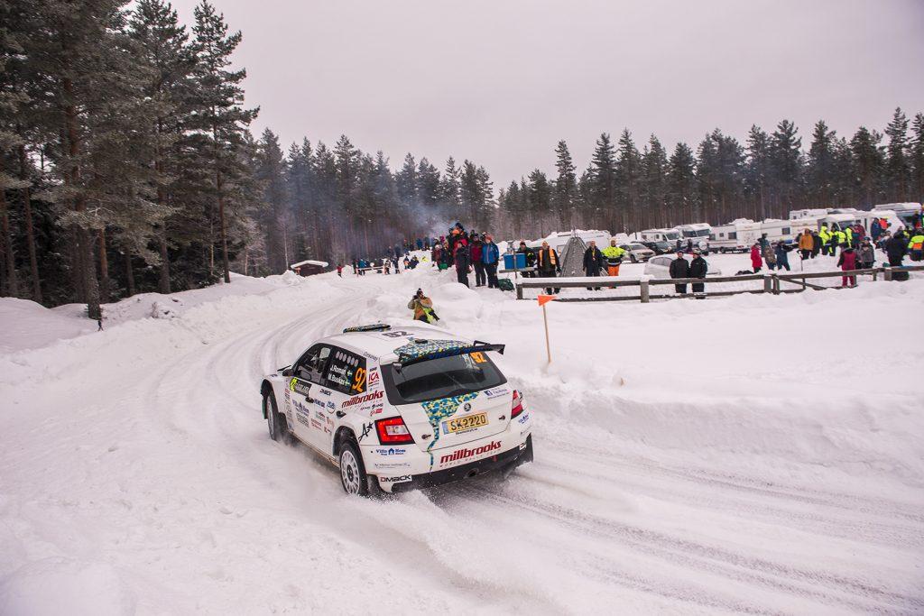 Joakim Roman / Madelene Buskas, ŠKODA FABIA R5. Rally Sweden 2018