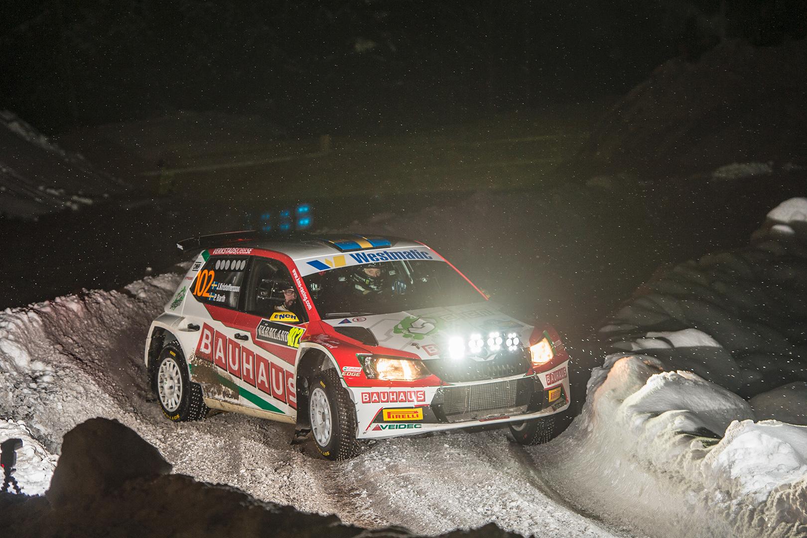 Johan Kristoffersson / Patrik Barth, ŠKODA FABIA R5. Rally Sweden 2018