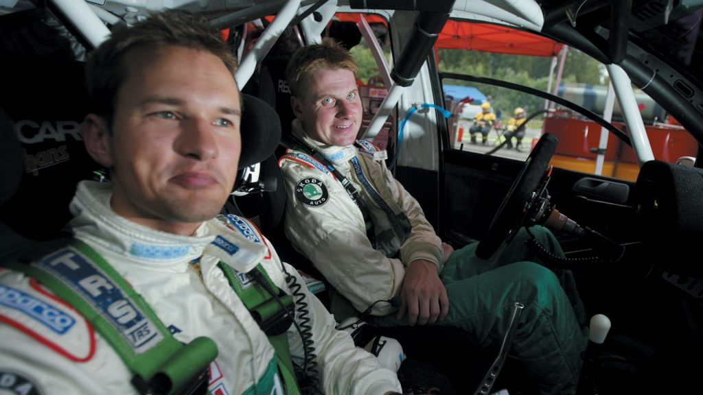 Janne Tuohino / Mikko Markkula, ŠKODA FABIA WRC, ŠKODA Motorsport. Rally Finland 2005