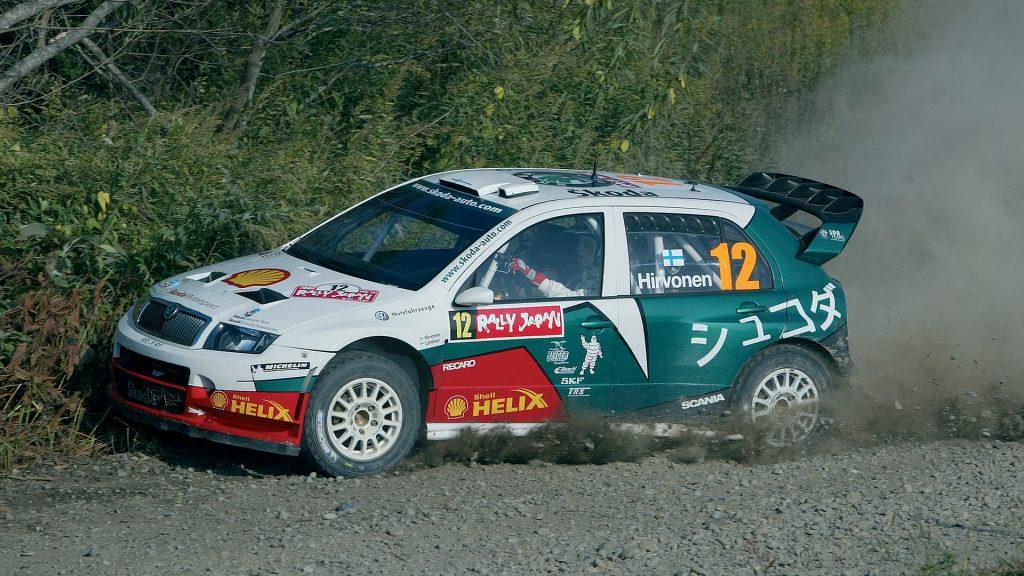 Mikko Hirvonen / Jarmo Lehtinen, ŠKODA FABIA WRC, ŠKODA Motorsport. Rally Japan 2005