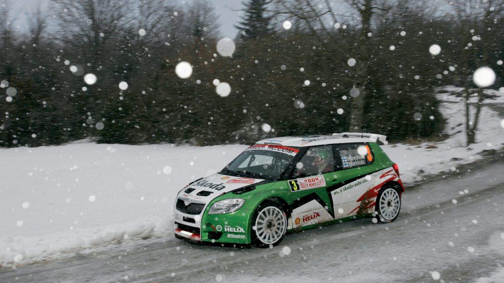 Juho Hänninen / Mikko Markkula, ŠKODA FABIA S2000, ŠKODA Motorsport. Rallye Monte Carlo 2009