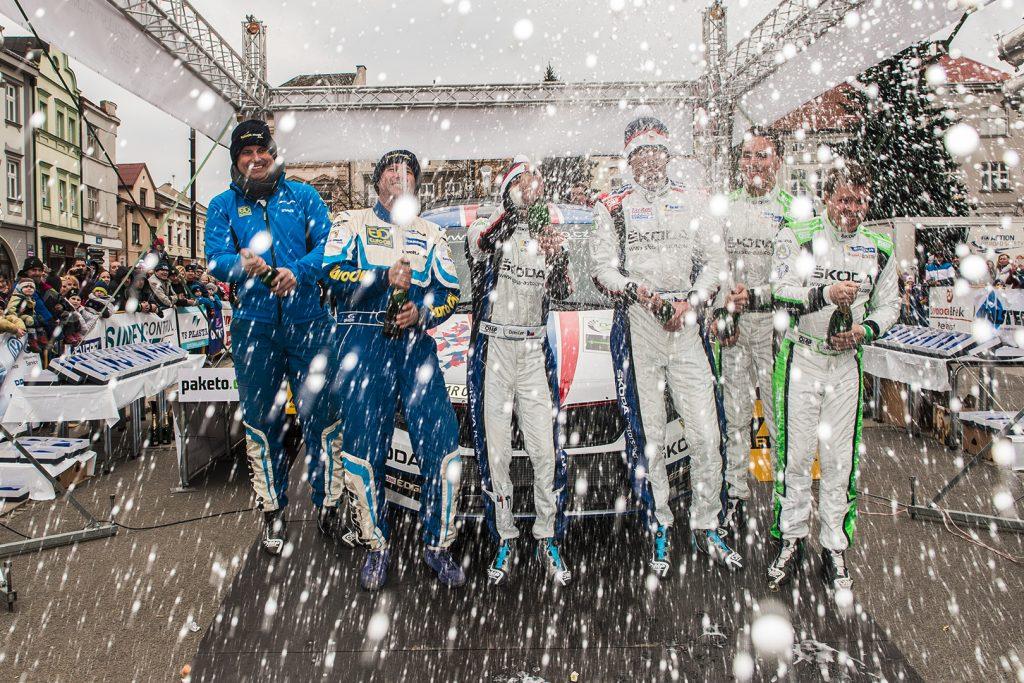 Jan Kopecký / Pavel Dresler, Ole Christian Veiby / Stig Rune Skjærmoen, ŠKODA FABIA R5, ŠKODA Motorsport. Valašská Rally 2018