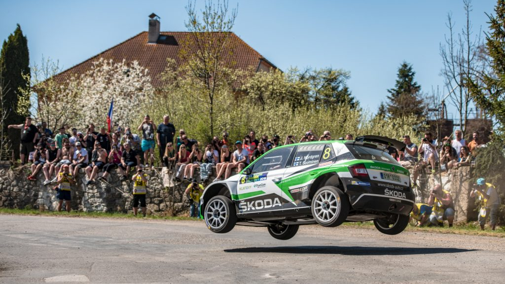 Juuso Nordgren / Tapio Suominen, ŠKODA FABIA R5, ŠKODA Motorsport. Rallye Šumava Klatovy 2018