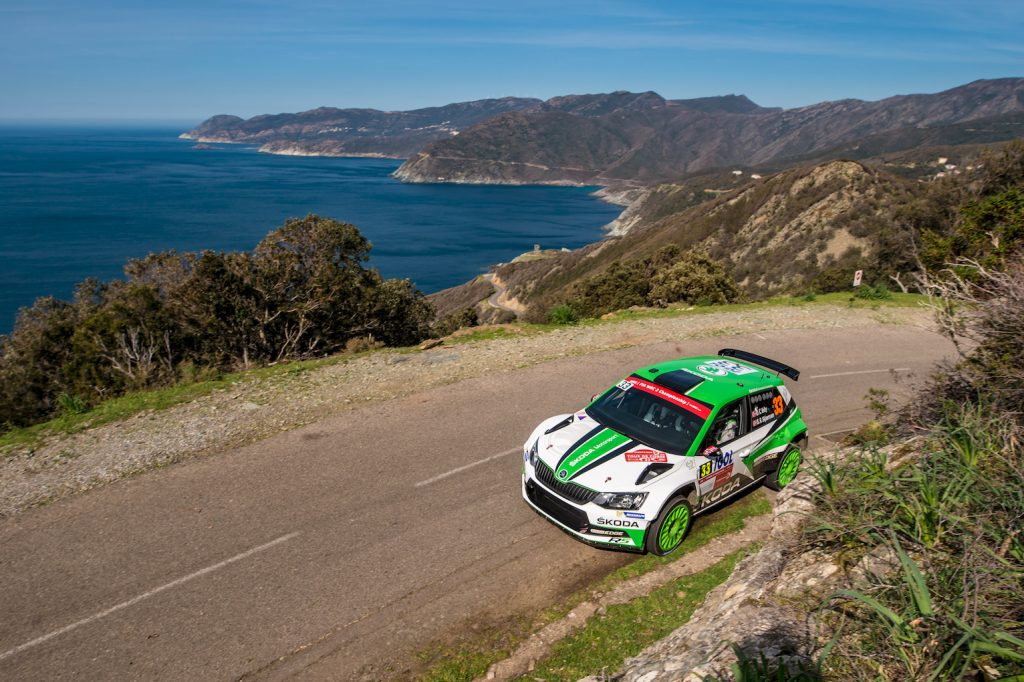 Ole Christian Veiby / Stig Rune Skjærmoen, ŠKODA FABIA R5, ŠKODA Motorsport. Tour de Corse 2018