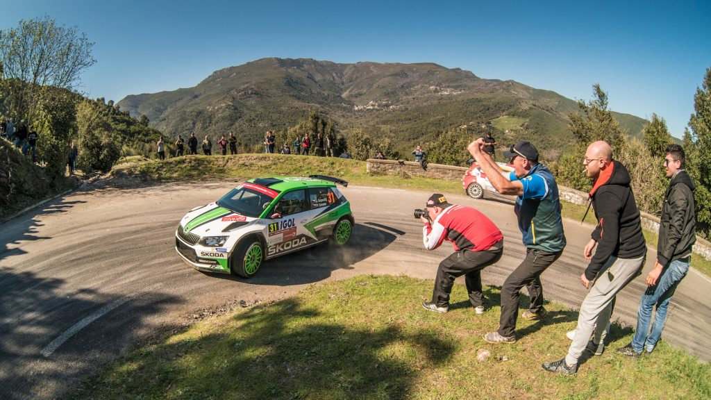 Jan Kopecký / Pavel Dresler, ŠKODA FABIA R5, ŠKODA Motorsport. Tour de Corse 2018
