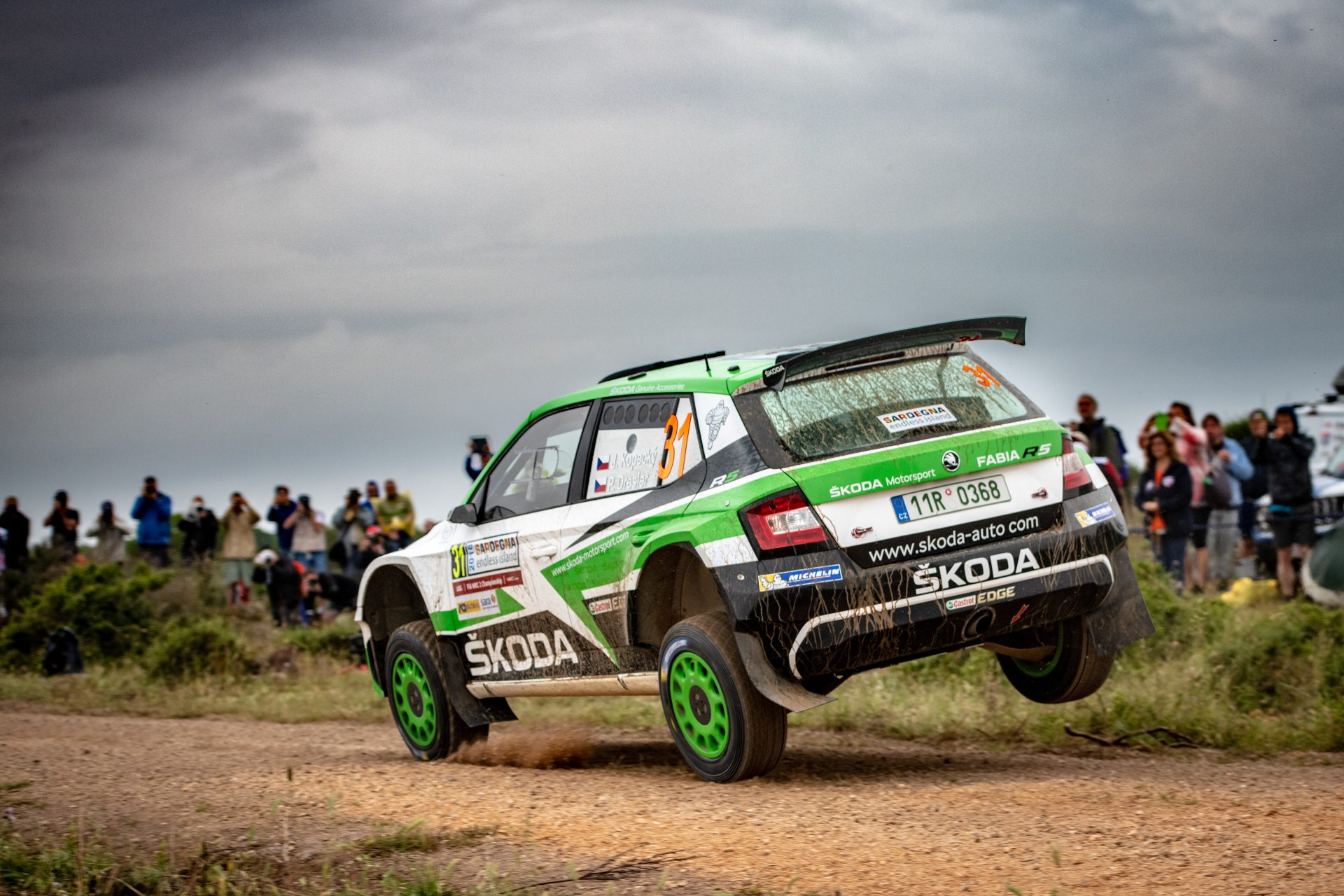 O. C. Veiby Wins Shakedown at Rally Italia Sardegna