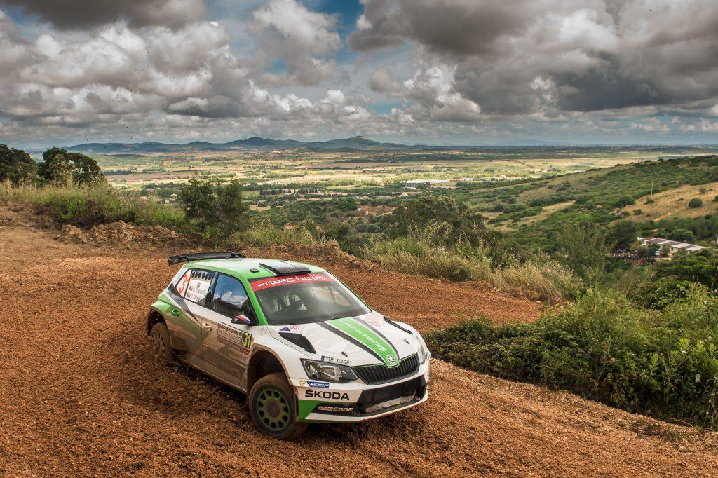Jan Kopecký / Pavel Dresler, ŠKODA FABIA R5, ŠKODA Motorsport. Rally Italia Sardegna 2018