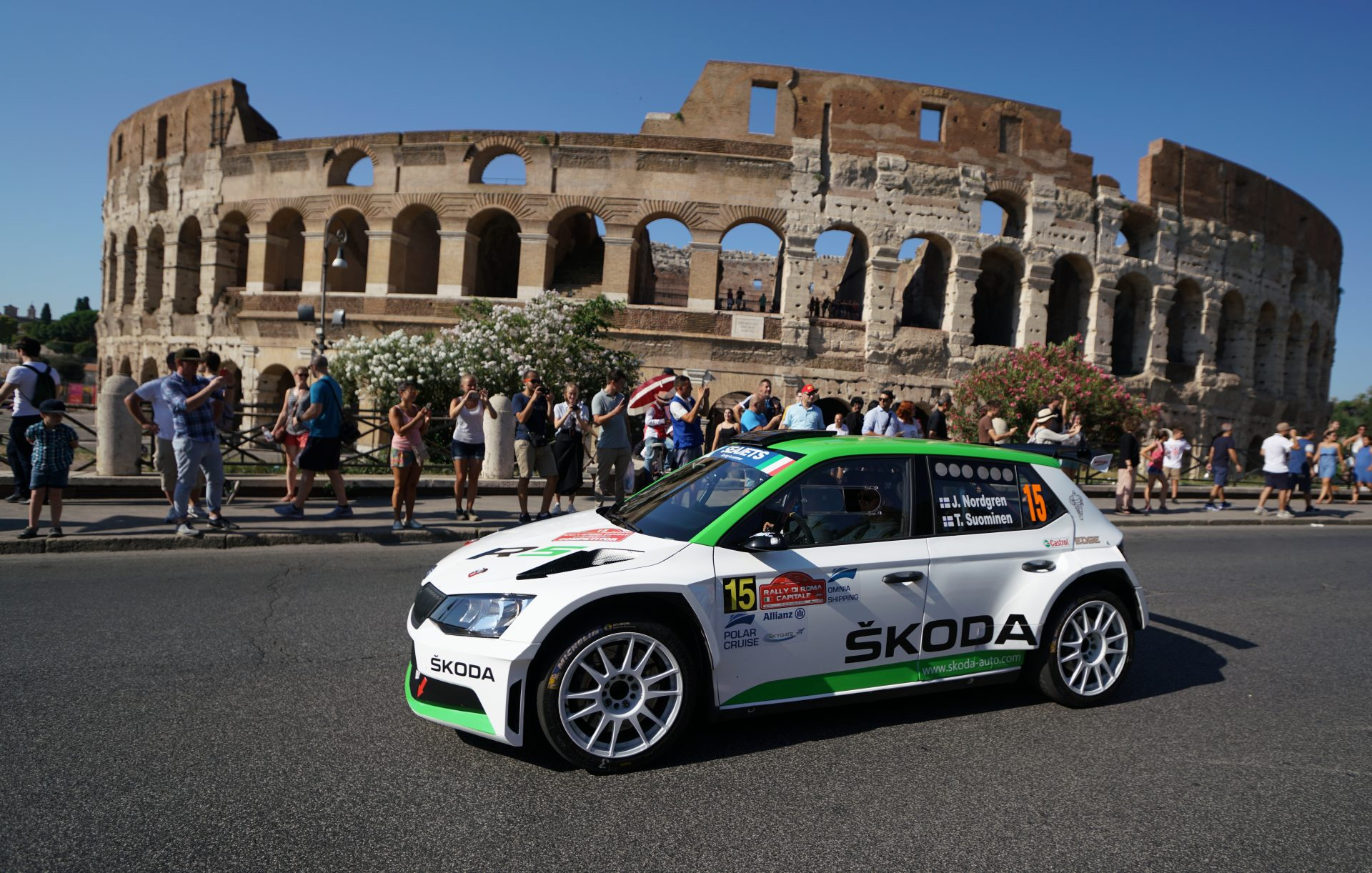 Rally di Roma Capitale: Eight FABIA R5s in the Top Ten