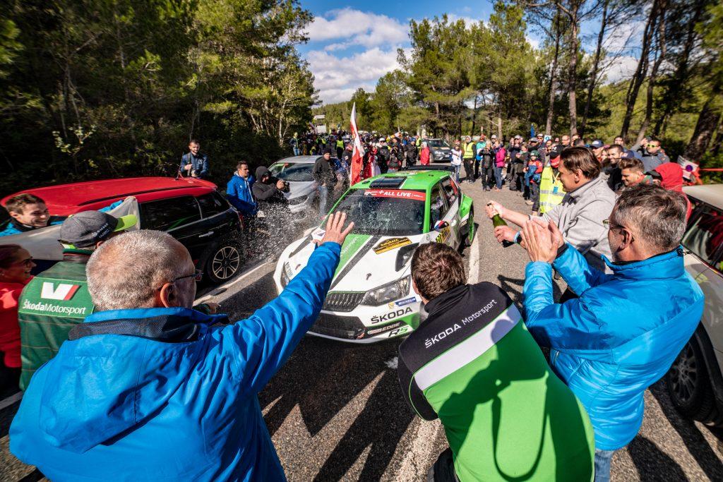 Jan Kopecký / Pavel Dresler, FABIA R5, RallyRACC Catalunya 2018