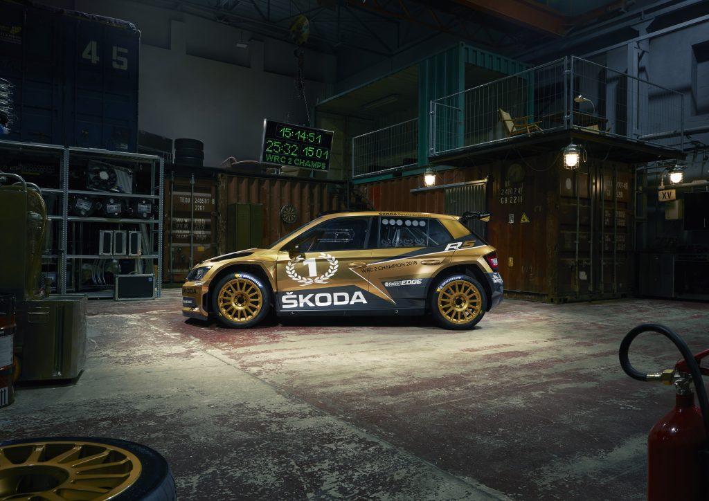Jan Kopecký / Pavel Dresler, 2018 WRC 2 Champions, GOLDEN FABIA R5