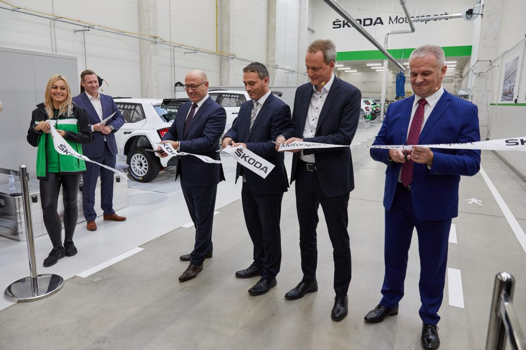 Opening ceremony of new ŠKODA Motorsport premises