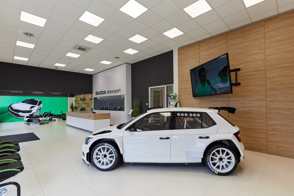 ŠKODA Motorsport showroom