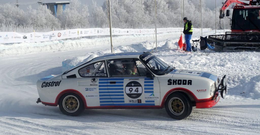 Matthias Kahle, ŠKODA 130 RS, GP Ice Race Zell am See