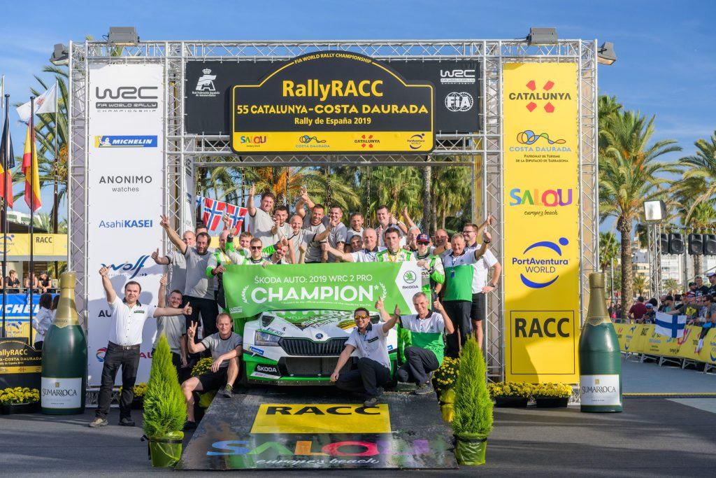 Jan Kopecký/Jan Hloušek, Kalle Rovanperä/Jonne Halttunen ,RallyRACC Catalunya 2019