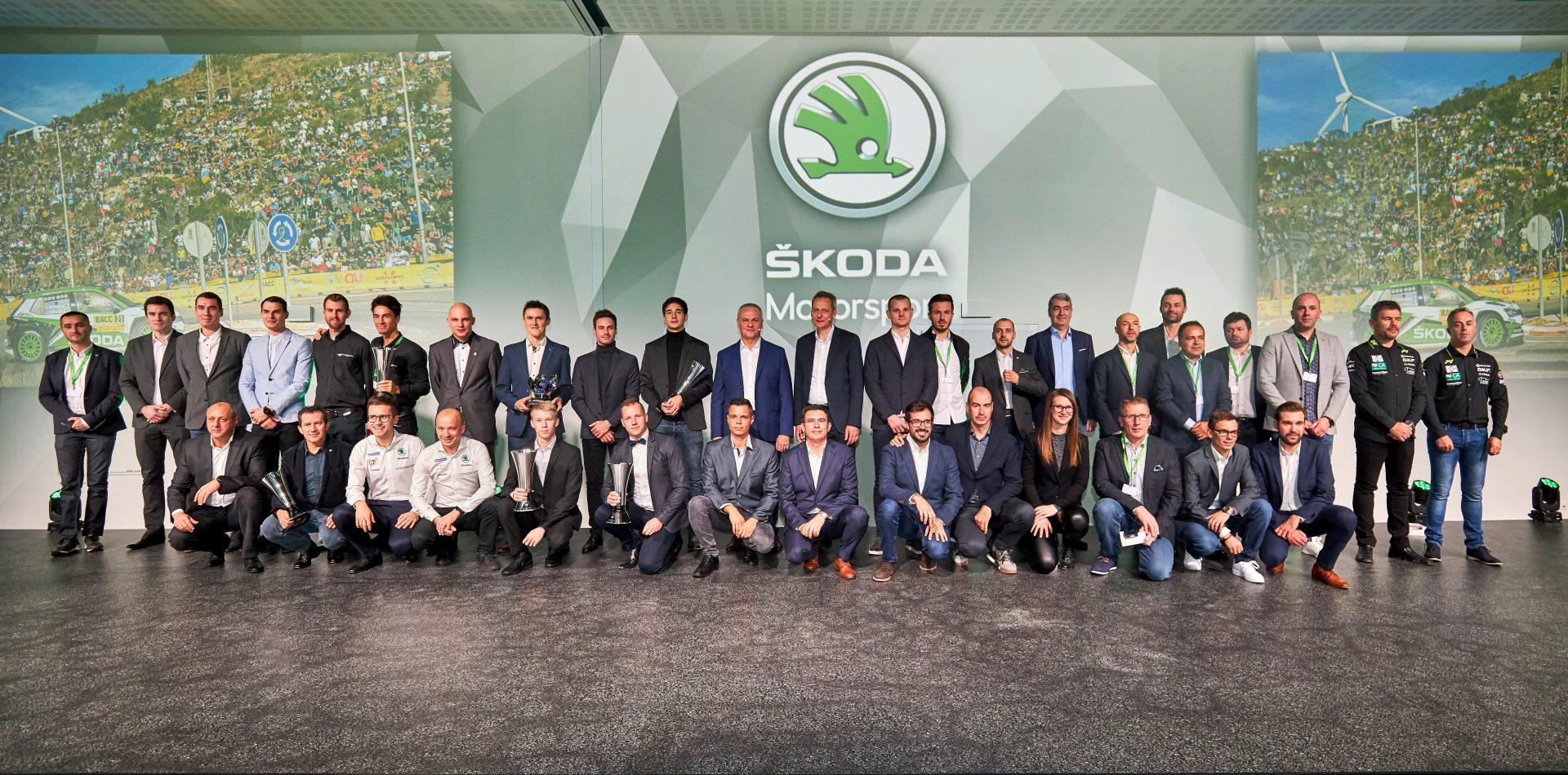 ŠKODA Motorsport oslavuje nejúspěšnější sezónu. Získala 30 titulů!